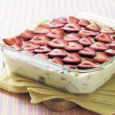 Strawberry-Banana Pudding.   Bananas and strawberries lend a healthy dose of fiber and vitamin C.