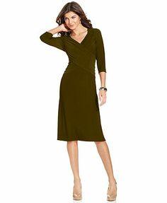 Elementz B-Slim Three-Quarter-Sleeve Dress