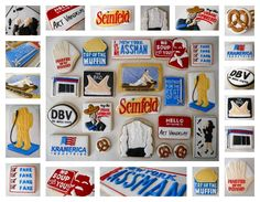 Seinfeld cookies from .Oh Sugar Events http://ohsugareventplanning.blogspot.com/