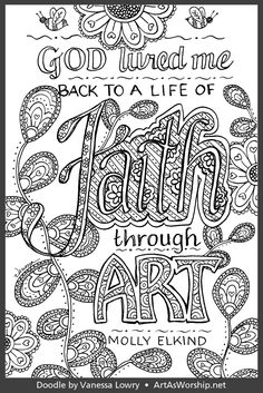 Hand Lettering Quotes, Doodle Lettering, Colouring, Coloring Books, Doodle Quotes, Color Sheets, Word Of Faith, Inspirational Posters, Zentangles