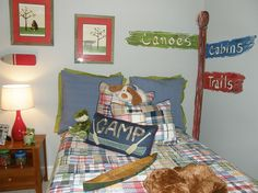I wonder if I could modify vintage girly decor to be a tad woodsy with a camping kinda feel for a little change after camping-themed birthday party using left over decor?