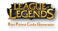 Riot Points Code Generator - we-hack.com - Home of Hacks