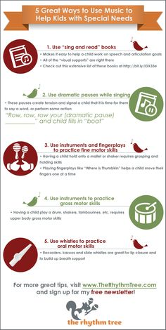 Free Infographic on 5 Ways to Use Music to Help Children with Special Needs