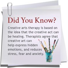 expressive Art therapy activities Creative arts therapy is based on the idea that the creative act can be healing healingcreativity