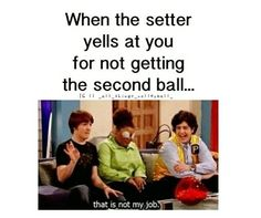 General Kicks for Soccer Training Hahaha! This is so funny cause im a setter and i get this alot ! But it's true. This is so funny cause im a setter and i get this alot ! But it's true. Volleyball Jokes, Volleyball Workouts, Play Volleyball, Volleyball Hitter, Volleyball Problems, Volleyball Motivation, Volleyball Clubs, Volleyball Gifts, Coaching Volleyball