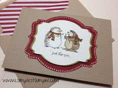 Stampin' Up! Super cute Best of Snow card!