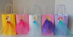 10 Pieces Disney Princess Birthday Goody Favor Tutu Bags Cinderella Belle…