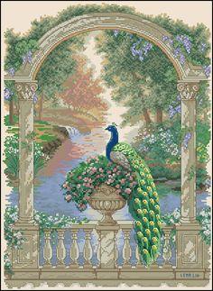 """Сачать схему вышивки """"Majestic Peacock"""""""