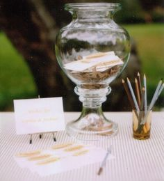 Guestbook alternative. Cards by Rosebud Designs. Styling by Melinda Hartwright