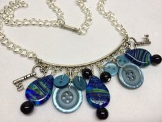 Bar of Buttons Necklace by BornAgainButtons on Etsy, $15.00
