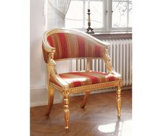 Chair in Late Gustavian style (item no: 2306). Visit our homepage for more information and to view all your finish & fabric options. /SWSC