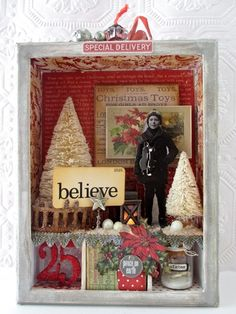 Winter Wish shadowbox kit