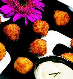 Mac 'n' Cheese Croquettes--Not so healthy, but definitely happy