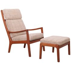 Ole Wanscher Senator Highjack Lounge Chair and Ottoman by Cado | From a unique collection of antique and modern lounge chairs at https://www.1stdibs.com/furniture/seating/lounge-chairs/