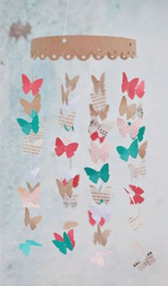 paper butterfly mobile #craft