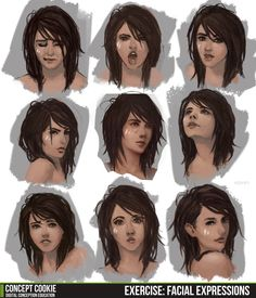 The weekly exercise post has been updated with a detailed step by step look at practicing facial expressions! Check out the full post here: http://cgcookie.com/concept/2013/07/22/weekly-exercise-facial-expressions/
