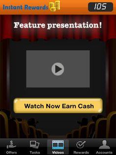 Instant rewards: Watch Video; Earn Cash