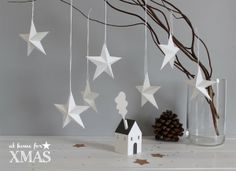 Paper stars 3D At home for XMAS
