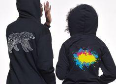 CMYK hoodie, bear hoodie - Brand new designs on Fibers.com!