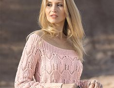 Схема и описание вязания на спицах джемпера с большим вырезом горловины из журнала «Сабрина» №3/2018 Knitting Projects, Knitting Patterns, Cozy Sweaters, Crochet Clothes, Lana, Knit Crochet, Pullover, Stylish, Womens Fashion