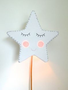 Glowing cheeks Star Wall Light, by House of Clouds on Folksy, £85.00