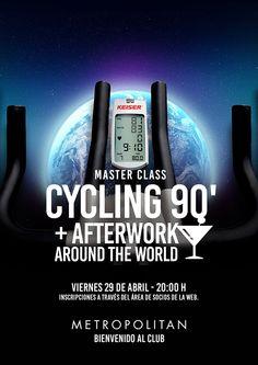 Master Cyclin90' + Afterwork Around The world el próximo viernes 29 de abril  a las 20:00 h. ¿Te apuntas?  Inscripciones a través del área de Socios de la web.