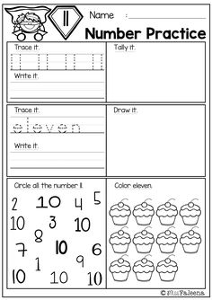 There are 20 pages number practice worksheets and number coloring pages in this product. This product is great for pre-k, kindergarten and first grade students. It will help children to master numbers from 1 to 20 in a many different ways. Children will learn numeral tracing, writing, coloring, drawing, tallying, and finding.