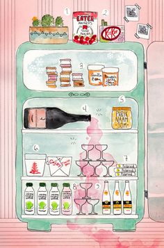 What's in @DeanaSaukam 's Fridge?? @CamilleStyles With excellent illustration via @vestarubies #GetHarmless