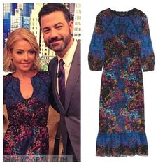 Live with Kelly: May 2016 Kelly's Blue Printed Midi Dress