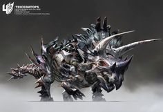 Stomp With These Awesome TRANSFORMERS: AGE OF EXTINCTION Dino-Bot Concept Art by Wesley Burt « Film Sketchr