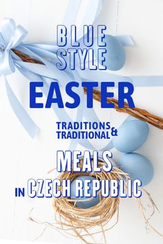 """Tasty sweet bread """"mazanec"""", eggs, """"pomlazka"""" - traditional meal and traditions in Czech Republic in high resolution images. Easter Symbols, Brunch Table, Easter Traditions, Sweet Bread, Blue Fashion, Czech Republic, Food Photography, Eggs, Tasty"""