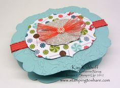 Stamping to Share: 3/27 Stampin' Up! Sweet Shop Treat Holder made with the Big Shot