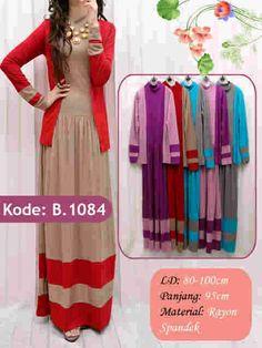 Setelan Dress Cardigan | Grosir Baju Muslim Terbaru