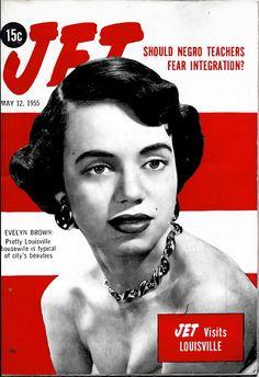 Jet Magazine Visits Louisiville, Kentucky - Jet Magazine, May 1955 Jet Magazine, Black Magazine, Life Magazine, Ebony Magazine Cover, Magazine Front Cover, Magazine Covers, Vintage Black Glamour, Vintage Glam, Essence Magazine