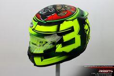 Racing Helmets Garage Racing Helmets, Helmet Design, Barbarian, Motogp, Bicycle Helmet, Iron Man, Samurai, Design Inspiration, Superhero