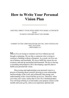 essay on mission vision and strategy With a mission and vision, you can craft a strategy for achieving them, and your  benchmarks for judging your progress and success are clear goals and.