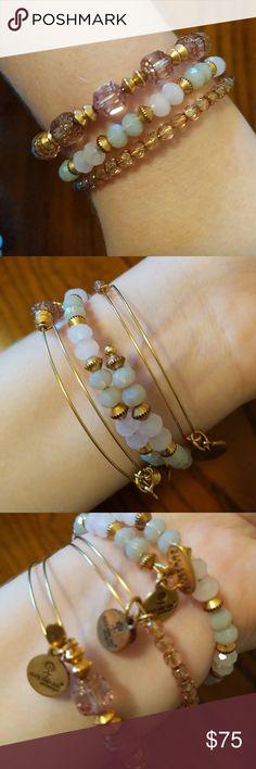 Alex and Ani Bracelet Set Beaded No damage, very pretty Alex & Ani Jewelry Bracelets