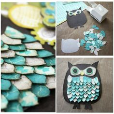 6. DIY Owl #Paper Craft... - 7 DIY Owl #Crafts to Make... → DIY [ more at http://diy.allwomenstalk.com ]  #Holiday #Decor #Table #Accessories #Home
