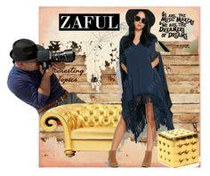 """Zaful 21#Hooded Poncho Dress"" by bamra ❤ liked on Polyvore"