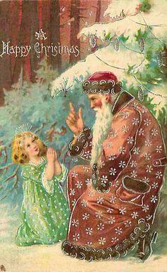 Postcard Santa Claus Mauve Suit Raphael Tuck Series 8620 | eBay