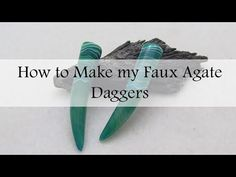 Faux Agate Polymer Clay Dagger Tutorial - YouTube