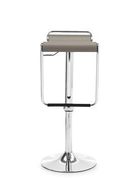 Sgabello CECCHETTO modello Superstar sedile cuoio chiaro base metallo