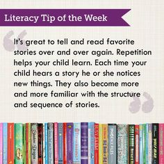 Literacy Tip of the Week: Reading to and with children