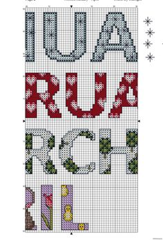 Months January to April - Free Cross Stitch Pattern!