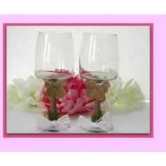 Glasses, bride groom rustic toasting glasses, celebration glasses,... ($31) ❤ liked on Polyvore featuring home, kitchen & dining, drinkware, rustic wine glasses, bride wine glass, wedding wine glasses, wedding wine glass and bride wine glasses