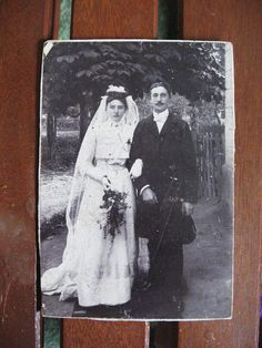 Gothic Romance... Vintage 1900's Wedding Portrait