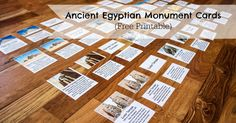 Free Printable Montessori-Inspired Ancient Egyptian Monument Cards to help kids learn about the Great Pyramids, Sphinx, and Other Egyptian Monuments