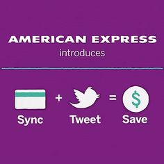 "An interesting play with Twitter which lets US card members turn customised Twitter hashtags into savings. When customers sync their AMEX Card with Twitter, they can enjoy exclusive offers loaded directly onto their card.  AMEX are showcasing ""Sync. Tweet. Save."" at SXSW 2012 where all eligible customers in Austin will receive $10 when they sync their card, tweet the special offer #AmexAustin10 and use their synced card to spend in Austin during SXSW."