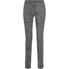 Antonio Berardi Tapered jacquard pants ($362) ❤ liked on Polyvore featuring pants, antonio berardi, bottoms, trousers, black, high-waisted pants, cuff pants, high waisted trousers, black zipper pants and high waisted black pants