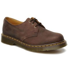 Dr.Martens 1461Z Crazy Horse Brown Leather Womens Shoes   eBay